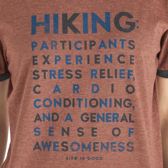 Women's Hiking Awesomeness Ringer Cool Tee