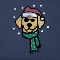 Women's Holiday Dog Long Sleeve Crusher Tee