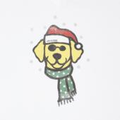 Women's Holiday Dog Long Sleeve Crusher Vee