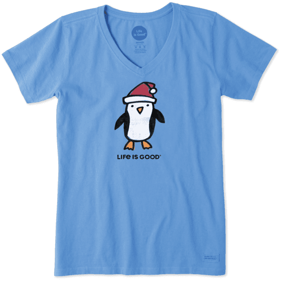 Women's Holiday Penguin Crusher Vee