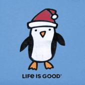 Women's Holiday Penguin Crusher Vee