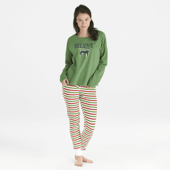 Women's Holiday Stripe Holiday Squad Thermal Sleep Pant