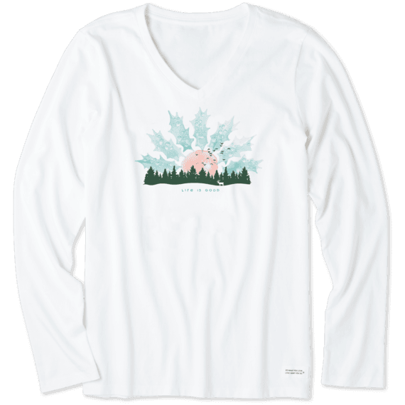 Women's Holly Sunset Long Sleeve Crusher Vee