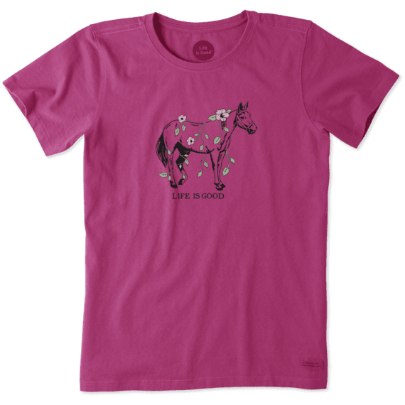 Women's Horses And Vines Crusher Tee