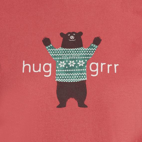 Women's Huggrr Bear Snuggle Up Long Sleeve Sleep Tee