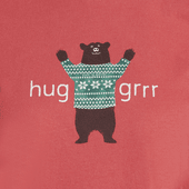 Women's Huggrr Bear Snuggle Up Long Sleeve Sleep Tee
