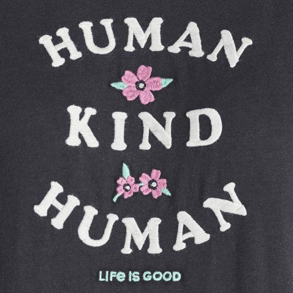 Women's Human Kind Human Embroidered Crusher Tee