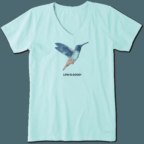 Women's Hummingbird Engraved Crusher Vee