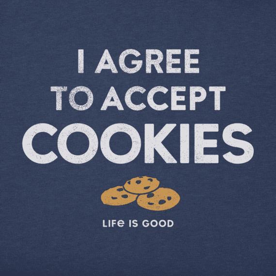 Women's I Accept Cookies Crusher Vee