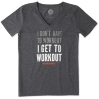 Women's I Get To Workout Cool Vee