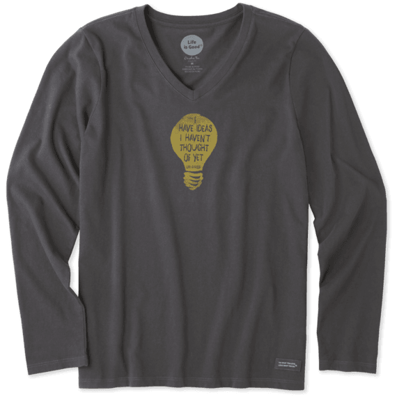 Women's I Have Ideas Long Sleeve Crusher Vee