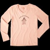 Women's Ice Daisy Penguin Long Sleeve Crusher Vee
