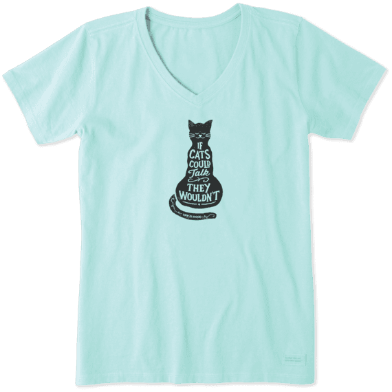 Women's If Cats Could Talk Crusher Vee