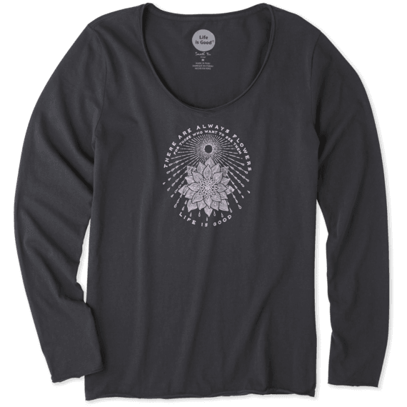 Women's Illuminated Flower Long Sleeve Smooth Tee