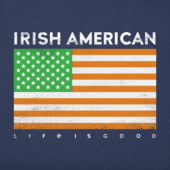 Women's Irish American Long Sleeve Crusher Tee