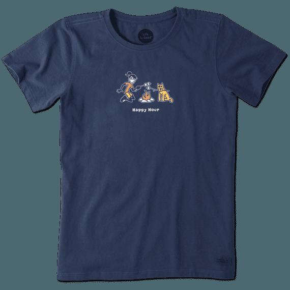 Women's Jackie And Rocket Camp Vintage Crusher Tee