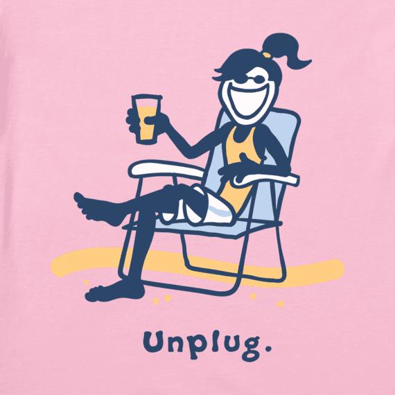 Women's Jackie Unplug at the Beach Vintage Crusher Tee