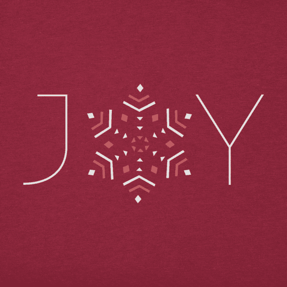 Women's Joy Snowflake Long Sleeve Crusher Tee