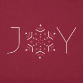 Women's Joy Snowflake Long Sleeve Crusher Tee