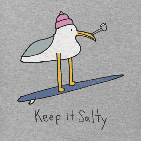 Women's Keep It Salty Seagull Crusher Vee