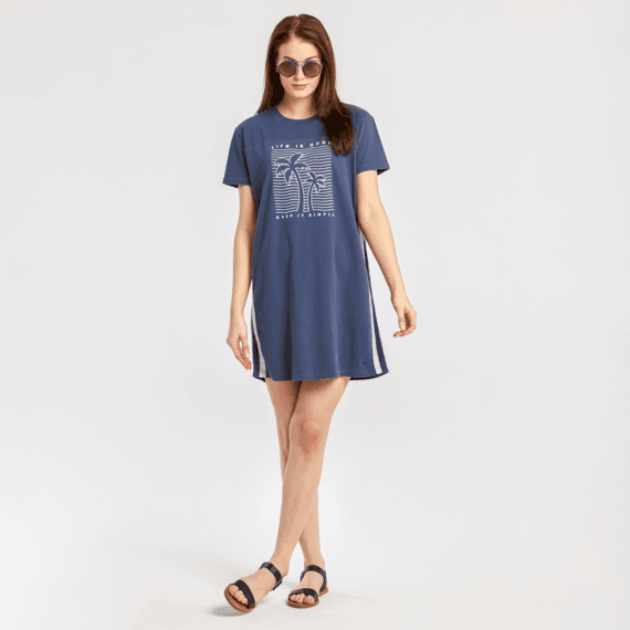 Women's Keep It Simple Palm Trees Crusher Tee Dress