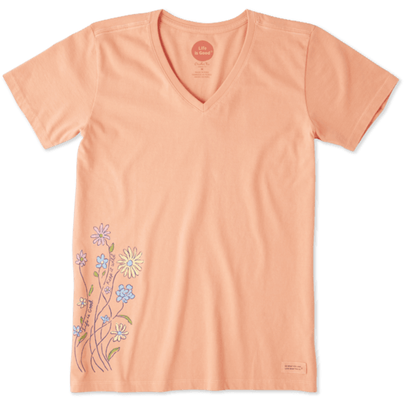 Women's Keep It Wildflowers Crusher Vee
