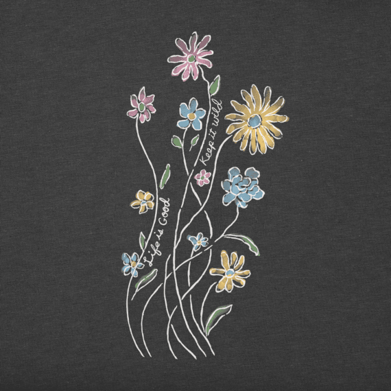 Women's Keep It Wildflowers Long Sleeve Crusher Tee