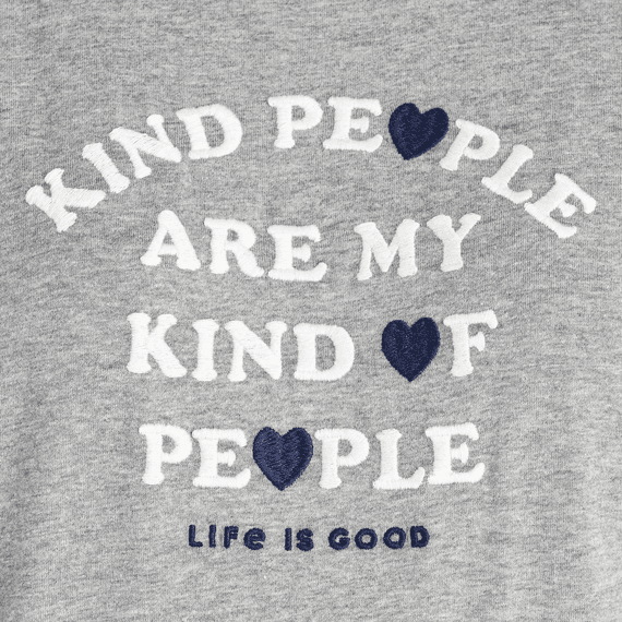 Women's Kind People Embroidered Crusher Tee