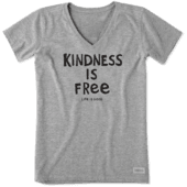 Women's Kindness Is Free Crusher Vee