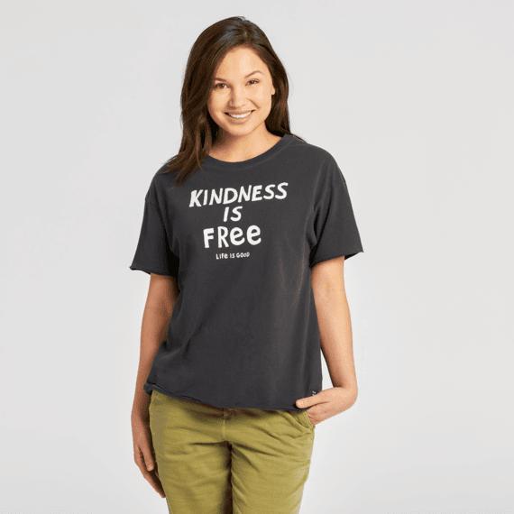 Women's Kindness is Free Boyfriend Crusher Tee