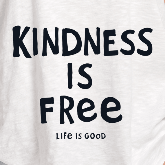 Women's Kindness is Free Textured Slub Tank