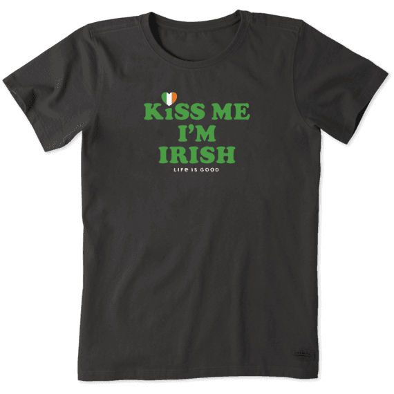 Women's Kiss Me I'm Irish Crusher Tee