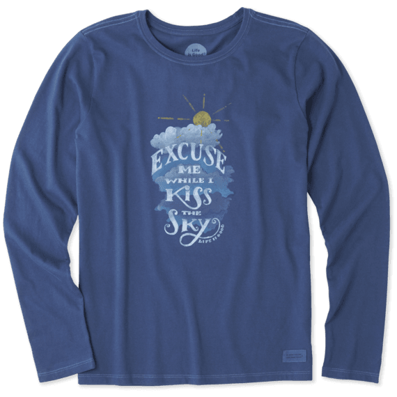 Women's Kiss The Sky Long Sleeve Crusher Tee