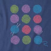Women's Knitting Is Good Crusher Vee