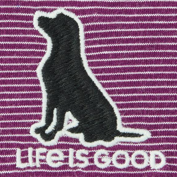 Women's LIG Dog Crusher-LITE Long Sleeve Striped Hooded Tee