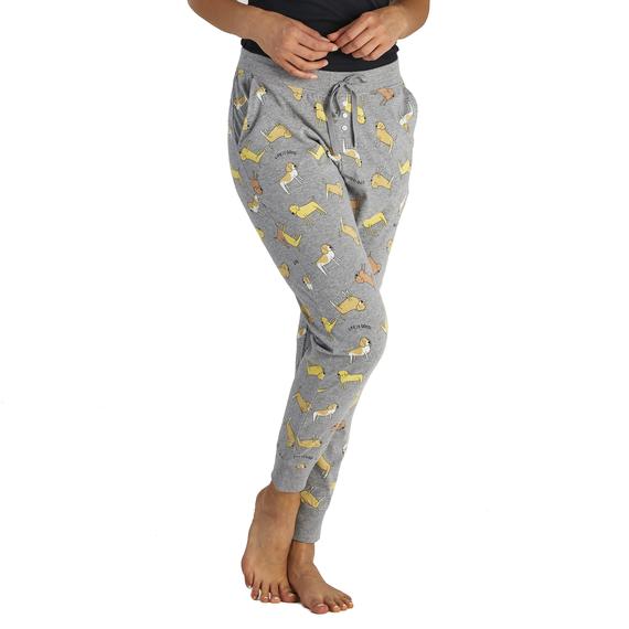 Women's LIG Dog Print Snuggle Up Sleep Jogger