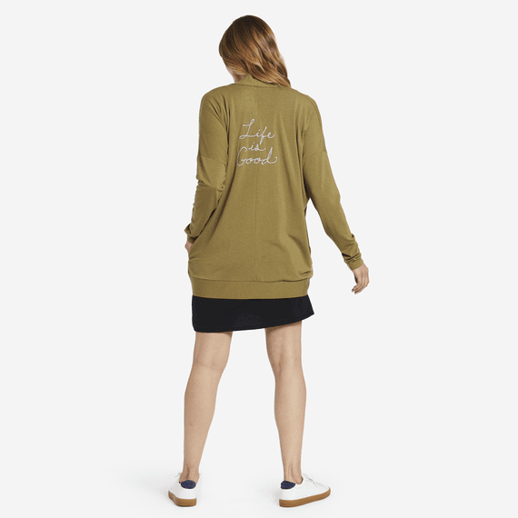Women's LIG Embroidery Supreme Blend Cardigan