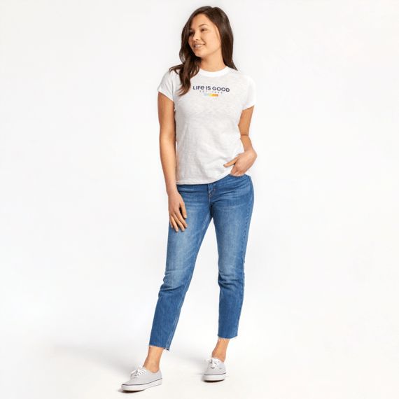 Women's LIG Est 1994 All Colors Textured Slub Tee