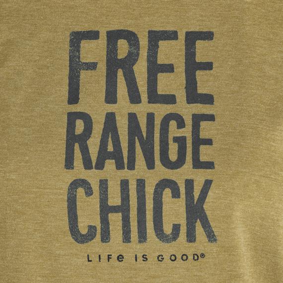 Women's LIG Free Range Chick Ringer Cool Tee