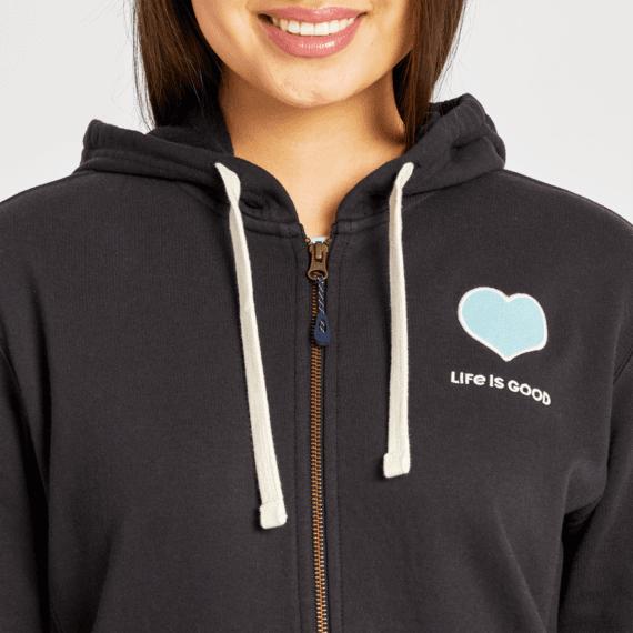 Women's LIG Heart Simply True Zip Fleece Hoodie