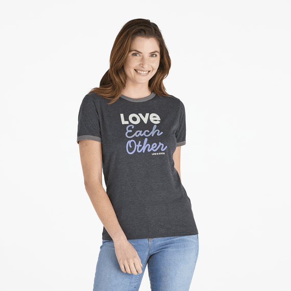 6c4f9bc2e Women's LIG Love Each Other Ringer Cool Tee | Life is Good® Official ...