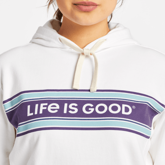 Women's LIG Seam Stripes Simply True Fleece Hoodie