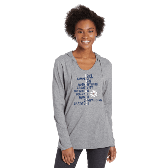 Women's LIG Superpowers Long Sleeve Hooded Smooth Tee