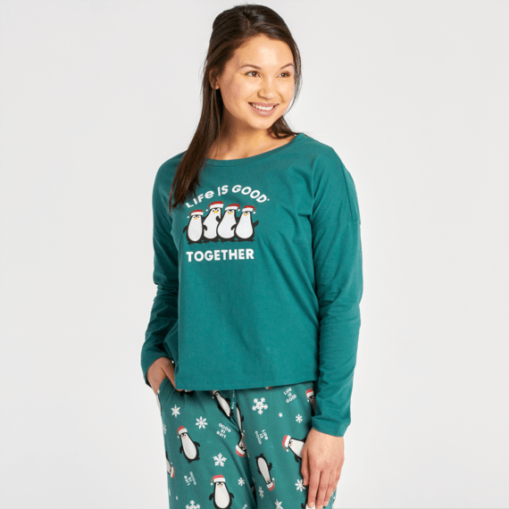 Women's LIG Together Snuggle Up Relaxed Sleep Long Sleeve