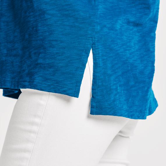Women's LIG Tri-Pill Short Sleeve Textured Slub Tunic
