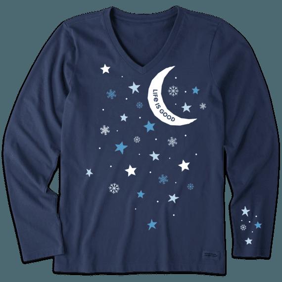Women's LIG Winters Night Long Sleeve Crusher Vee