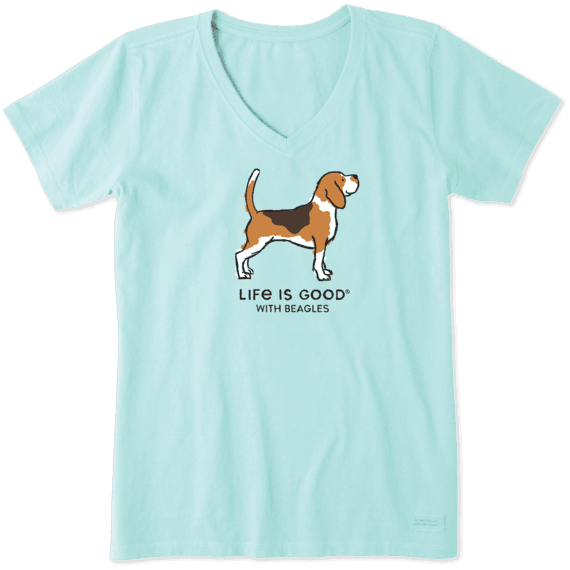 Women's LIG with Beagles Crusher Vee