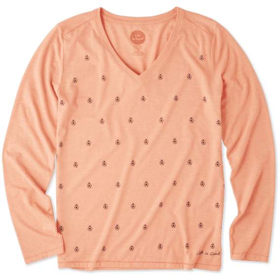 Women's Ladybugs Galore Long Sleeve Cool Vee