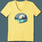Women's Lake Beach Cool Vee