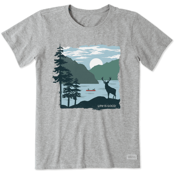Life is Good Womens Smooth tee Life Isnt Easy Mountains